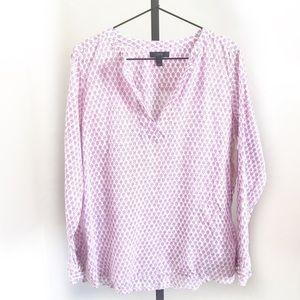 💛 J.crew floral block-print tunic